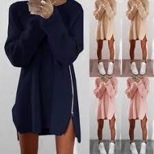 Sexy Women Long Sleeve Sweater Dress Casual Loose ... - Vova