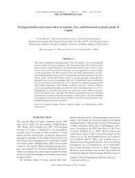 (PDF) Seed germination and conservation of endemic, rare and ...