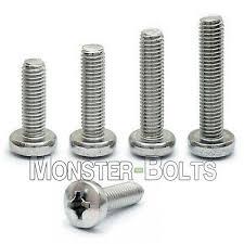 <b>M6</b> Stainless Steel <b>Phillips</b> Pan Head Machine Screws, <b>Cross</b> ...