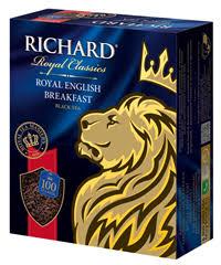 <b>Чай черный RICHARD</b> Royal english breakfast байховый к/уп ...
