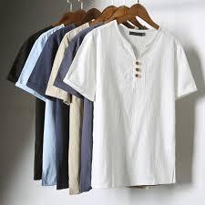<b>Summer Men Fashion</b> Short Sleeve V-neck Breathable <b>T</b>-<b>shirt</b> Plus ...