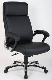 modern office chair in black with sturdy chrome style base aspera 10 executive office nappa leather brown