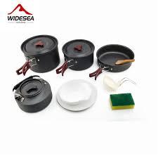 Widesea 4 5 человек Кемпинг посуда <b>набор для приготовления</b> ...
