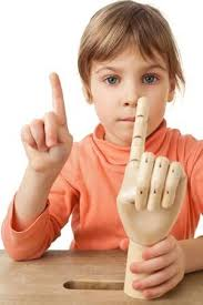 Pretty Little <b>Girl</b> Is Played By <b>Wooden Hand</b> Of <b>Manikin</b> Isolated ...