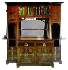 jugendstil art nouveau arts and crafts mahogany buffet circa 1900 art deco desk computer