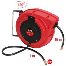 Automatic pneumatic hose reel Ø 10 mm <b>x 15 m</b> | Compressed Air ...