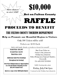 tickets on for nd annual bet on fulton county raffle flyer 2016