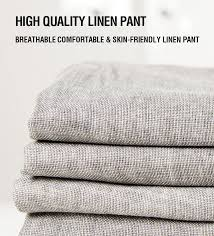<b>Markless Thin Linen</b> Men Pants Male Commercial Loose Casual ...