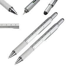 Multifunction 6in1 Screen Stylus <b>Ballpoint Pen</b> With Ruler ...