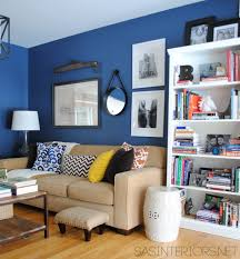 creative ideas for designing a home office family room reveal with navy walls blue home office ideas