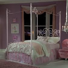 Princess Room Furniture Standard Furniture Princess Canopy Bed In Pink Metal Room R