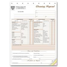 cleaning forms at print ez cleaning proposal forms