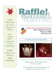 starlite dance studio of the bronx coach bag raffle starlite starlite dance studio of the bronx coach bag raffle