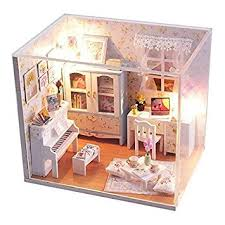 Rylai <b>Dollhouse Miniature DIY</b> House Kit Cute Room With Furnitiure ...
