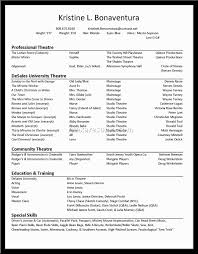 special skills acting resume special skills acting resume 0007