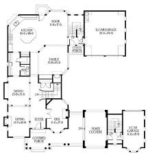 images about House Floor Plans on Pinterest   U Shaped    U Shaped Home With Unique Floor Plan  HWBDO     New American House Plan from
