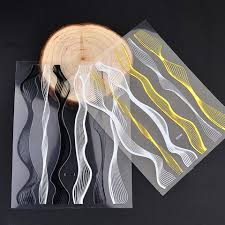 <b>Наклейки для ногтей</b> 1 лист металлический тисненый стикеры ...