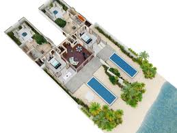 conrad maldives rangali islands awesome 3d floor plans of maldives most luxuries villas awesome 3d floor plans