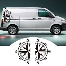 2 PCS Car Stickers For Bus T4 T5 T6 Compass left right side Auto ...