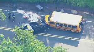 <b>Bus</b> carrying campers involved in crash with <b>truck</b> in <b>New</b> Jersey