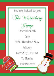 christmas tea and cookie exchange party invitations  design sar 2069 christmas cookie exchange on stripes christmas party invitations