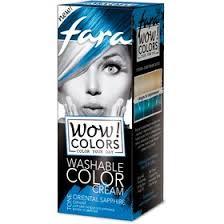 <b>Оттеночный</b> крем для волос <b>Fara WOW</b> Colors синий, смываемый ...