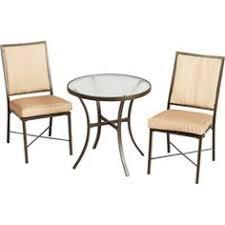 crossman piece outdoor bistro: mainstays crossman  piece outdoor bistro set tan seats