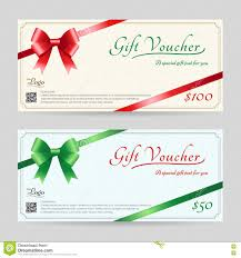 christmas gift card or gift voucher template stock vector image christmas gift card or gift voucher template