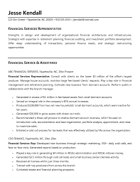 financial representative resumes template financial representative resumes