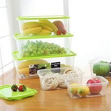 Cavinova Kitchen <b>refrigerator</b> sealed crisper <b>storage box rectangle</b> ...