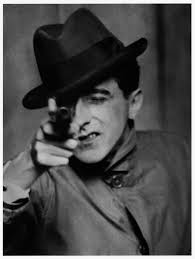 1926, Jean Cocteau with Gun. Berenice Abbott left the United States in 1921 to study sculpture in Paris, where she was hired by Man Ray in 1923 to be his ... - tumblr_m53zdzY0yH1qgwmzso1_1280