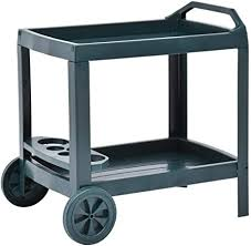 Festnight <b>Beverage Cart</b> Drinks Trolley for Kitchen <b>Green</b> 69x53x72 ...