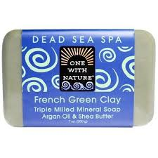 One With Nature <b>Triple Milled Mineral Soap</b> French Green Clay 7 Oz ...