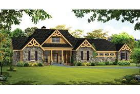 ePlans Craftsman House Plan   Open Craftsman Ranch With Large    Front