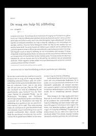 publications by dr boudewijn chabot humane death 2000 nl journal assistance in suicide 01