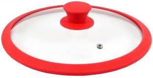 <b>Крышка</b> стеклян. TimA 4622R с силикон/обод 22см красная ...