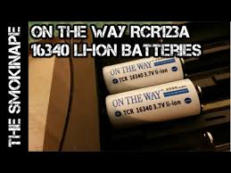 On The Way RCR123a - <b>16340 Li-Ion Rechargeable Batteries</b> ...