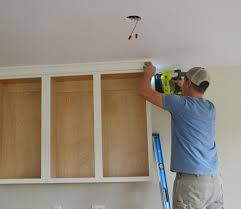 kitchen moldings: adding crown moulding to wall kitchen cabinets momplex vanilla kitchen ana white woodworking projects