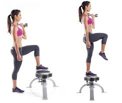 Image result for women dumbbell step up workout