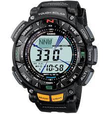 Casio <b>Men's</b> Pathfinder Solar Powered Triple <b>Sensor Sport Watch</b> ...