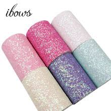 IBOWS 1 Yard 75mm Candy Chunky Glitter Ribbon Colorful Sequin ...