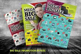 big promotion flyer templates templates on creative market