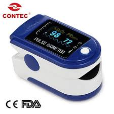 CONTEC <b>CMS50D</b> - Finger <b>Pulse Oximeter</b> - %<b>SpO2</b> (Blood Oxygen ...