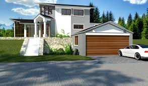 Sloping House Plans   VAlineHouse Plans On Sloping Land