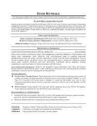 example client relations specialist resume   free sample