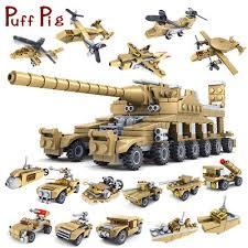 544PCS Set <b>16 in 1</b> Army Military Commando Trucks Tank Building ...