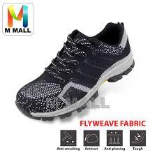 M Mall <b>Low</b>-<b>Cut</b> Steel Toe Cap Work Safety Shoes <b>Flyweave</b> Fabric ...