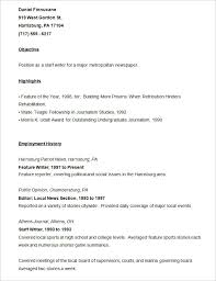 resume templates –    free samples  examples  amp  format download    sample journalist resume template