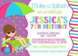 birthday party invitation templates drevio invitations design pool party birthday invitations hollowwoodmusic com templates for birthday invitations