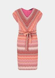 comma Lightweight dress with a <b>knitted pattern</b>